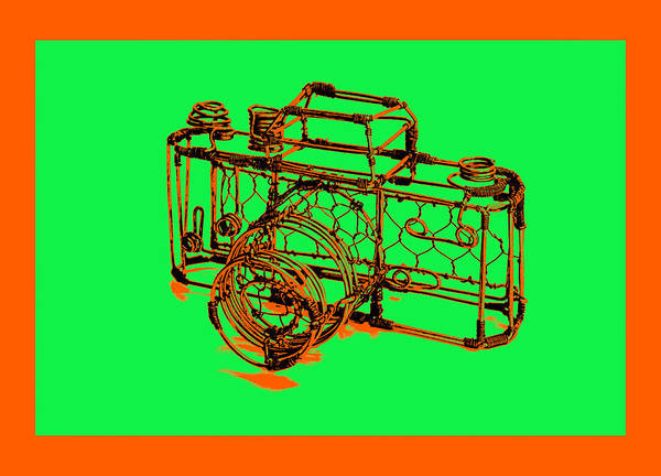 Art Art Print featuring the pyrography Camera 1c by Mauro Celotti