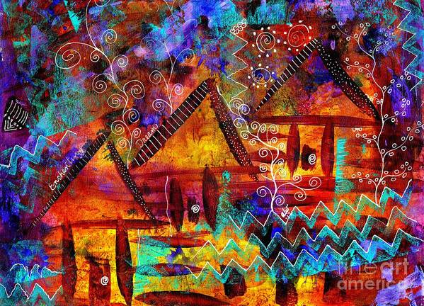 Acrylic Art Print featuring the painting Dreamland - My Imaginary Getaway by Angela L Walker