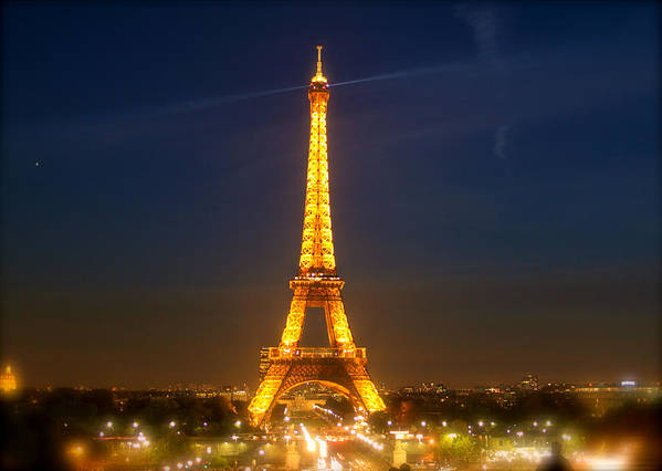 Paris Art Print featuring the photograph Eiffel Tower In The Night by Alper Yildir