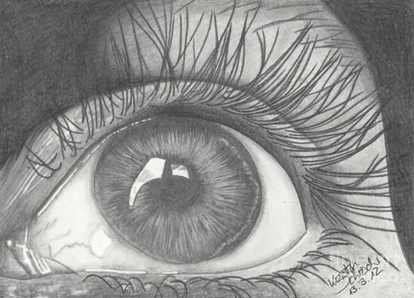 Eye Art Print featuring the drawing Eye by Kerstin Schroeder