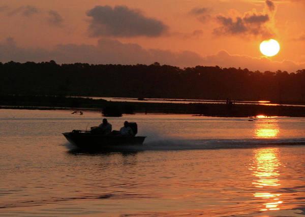 Landscape Art Print featuring the photograph Fast Boat Sunrise by William McEachern