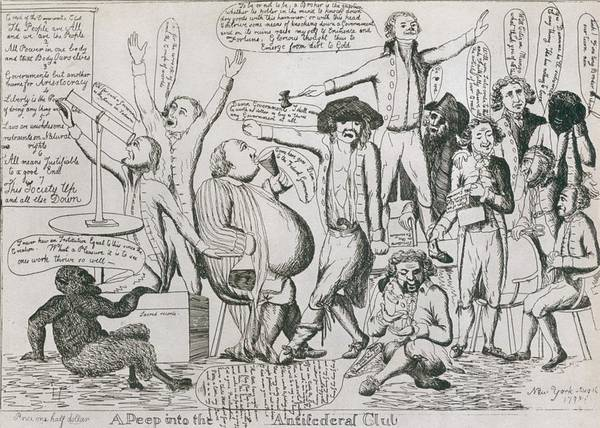 History Art Print featuring the photograph Federalist Cartoon Of 1793 Shows by Everett