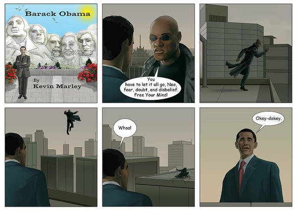 Barack Obama Art Print featuring the digital art Free Your Mind I by Kevin Marley