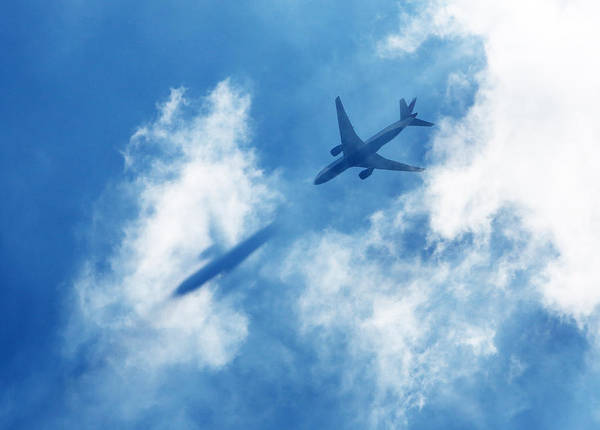 Horizontal Art Print featuring the photograph Ghost Plane by Richard Newstead