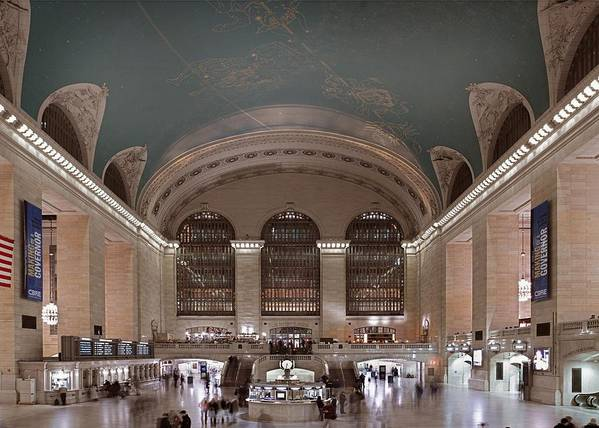 History Art Print featuring the photograph Grand Central Station The Main by Everett