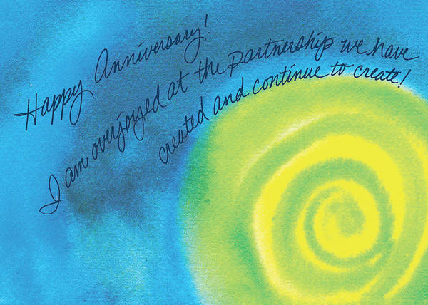 Art Print featuring the painting Happy Anniversary by Tara Moorman