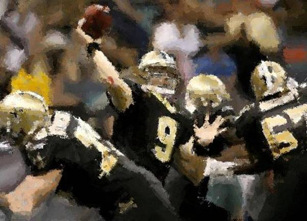 New Orleans Saints Art Print featuring the digital art It's A Breeze by Carrie OBrien Sibley