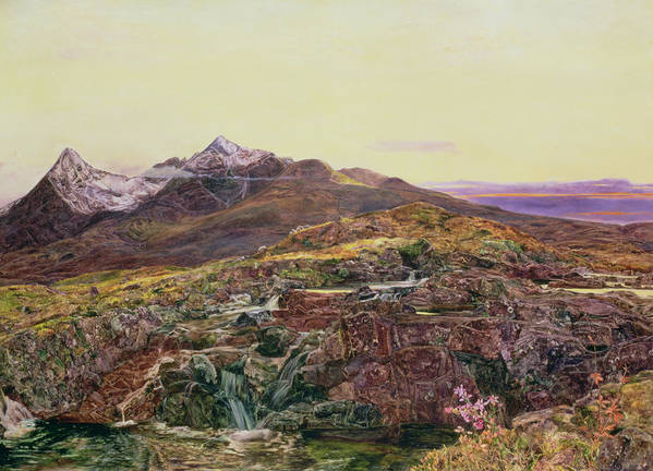 Cuillin Ridge Art Print featuring the painting John William Inchbold by Skye from Sligechan