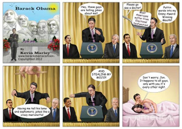 Barack Obama Art Print featuring the digital art Jon Stewart Iv by Kevin Marley