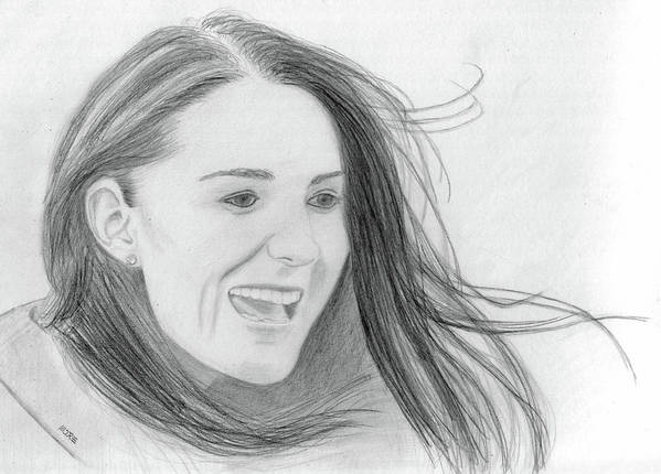 Kate Middleton Art Print featuring the drawing Kate Middleton - Duchess Of Cambridge by Pat Moore