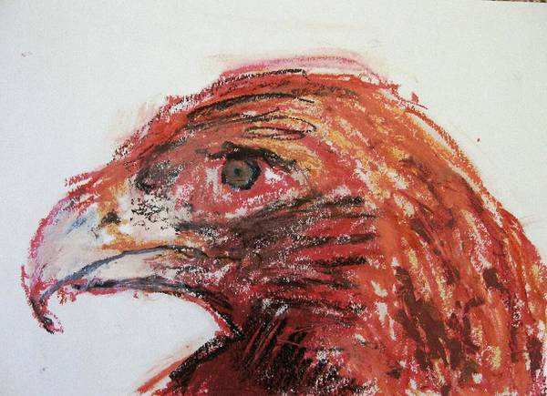 Bird Print featuring the painting Lipstick Eagle by Iris Gill