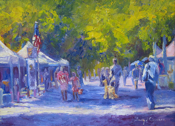 Shopping Art Print featuring the painting Looking For Ring 5 by Terry Chacon