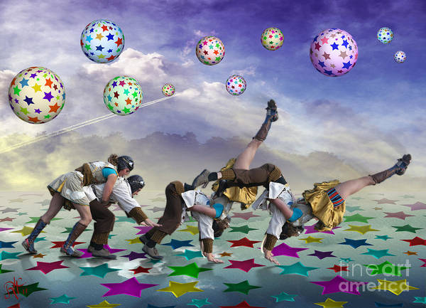 Circus Art Print featuring the digital art Perfect Coupling by Rosa Cobos