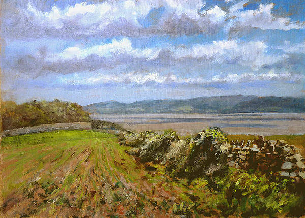 Landscape Art Print featuring the painting River Severn View by Andrew Taylor