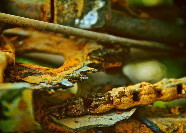 Rust Art Print featuring the photograph Rust Abstraction by Odd Jeppesen
