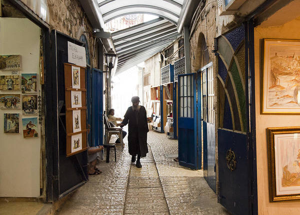 Safed Art Print featuring the photograph Safed Galilee Artists Quarter by Daniel Blatt