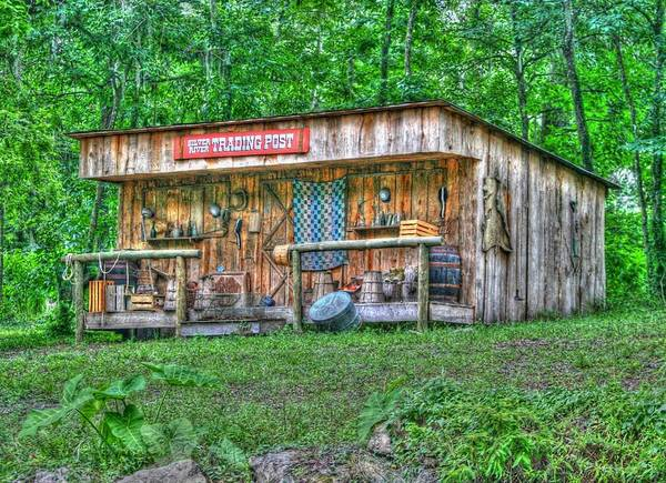 historic Site Art Print featuring the photograph Silver River Trading Post by Myrna Bradshaw