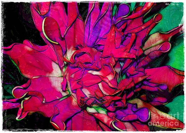 Fabric Art Print featuring the photograph Swirly Fabric Flower by Judi Bagwell