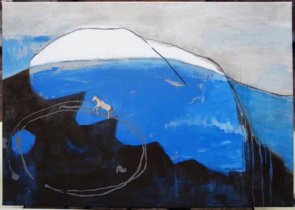 Horse Art Print featuring the painting The Big Leap by Daniella Rubinovitz
