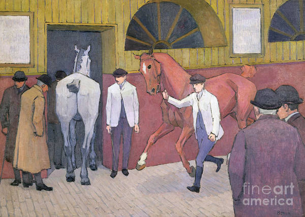 Xyc153932 Print featuring the photograph The Horse Mart by Robert Polhill Bevan