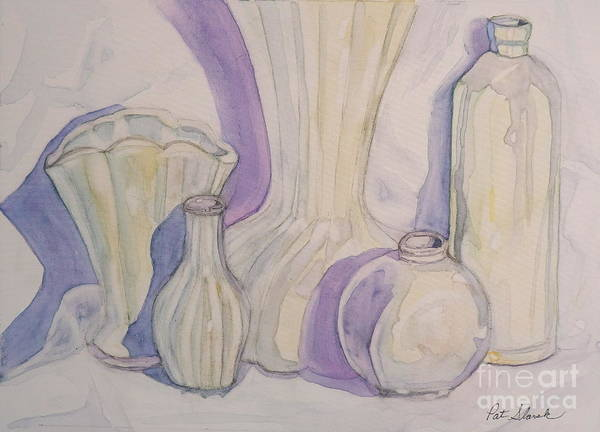 Still Life Art Print featuring the painting White Vases by Pat Slavek