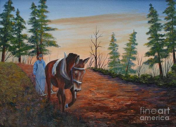Landscape Art Print featuring the painting Breaking Ground by Jerry Walker