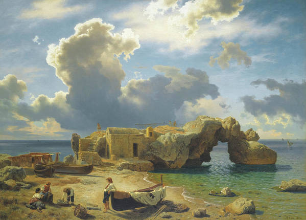 August Leu (german Art Print featuring the painting Capri by MotionAge Designs