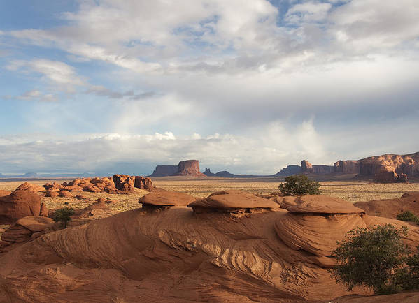 Monument Art Print featuring the photograph Mystery Valley View 7496 by Bob Neiman