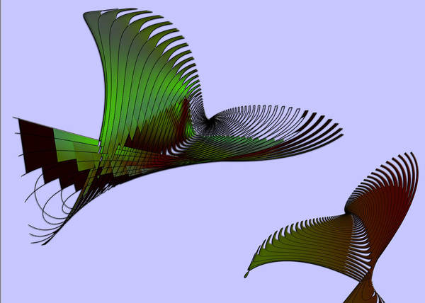 Abstract Art Print featuring the digital art Night Flight by Anne Reeskamp
