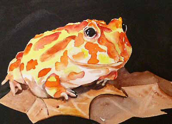 Pac Man Frog Art Print featuring the painting Pac Man by Gina Hall