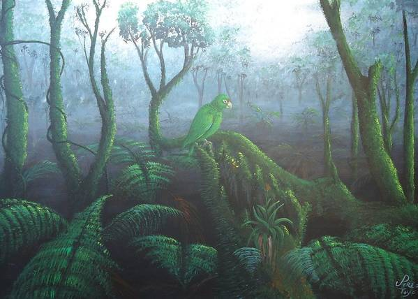 Paisaje Art Print featuring the painting Solito by Toyo Perez