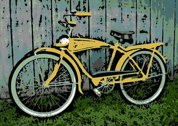 1949 Art Print featuring the photograph 1949 Shelby Donald Duck Bike by George Pedro