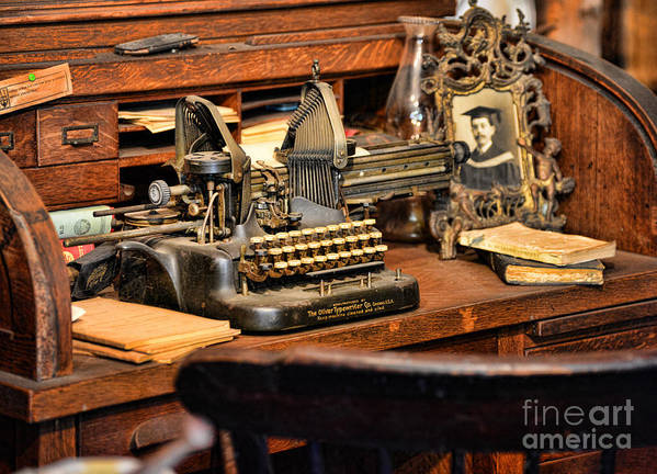 Paul Ward Print featuring the photograph Antique Typewriter by Paul Ward