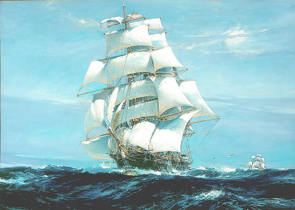 Painting Art Print featuring the painting Ariel And Taeping - China Tea Clipper Race by Mountain Dreams
