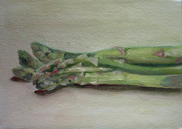 Food Art Print featuring the painting Asparagus by Sarah Lynch