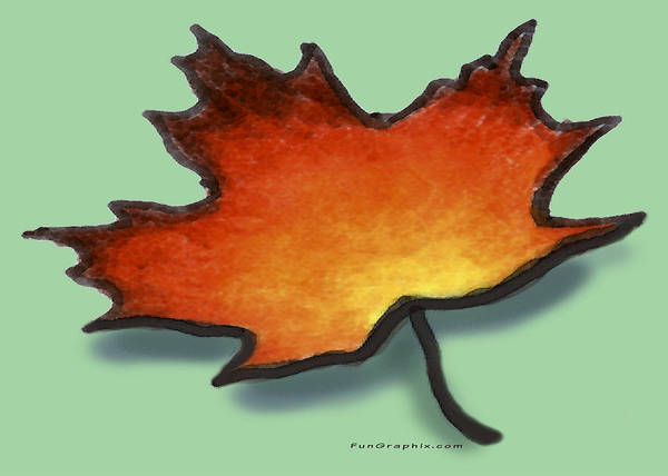 Leaf Art Print featuring the greeting card Autumn Leaf by Kevin Middleton