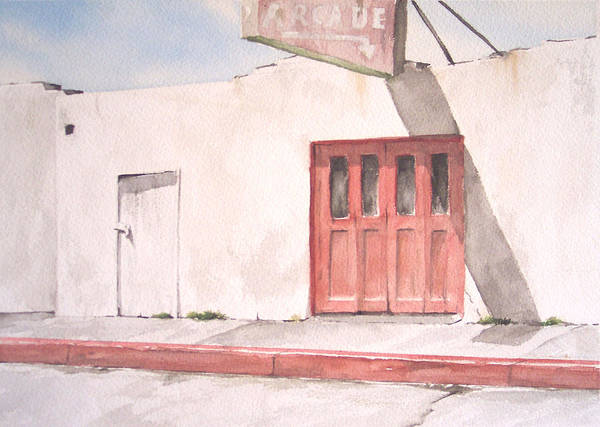 Urban Landscape Art Print featuring the painting Balboa Fun Zone by Philip Fleischer