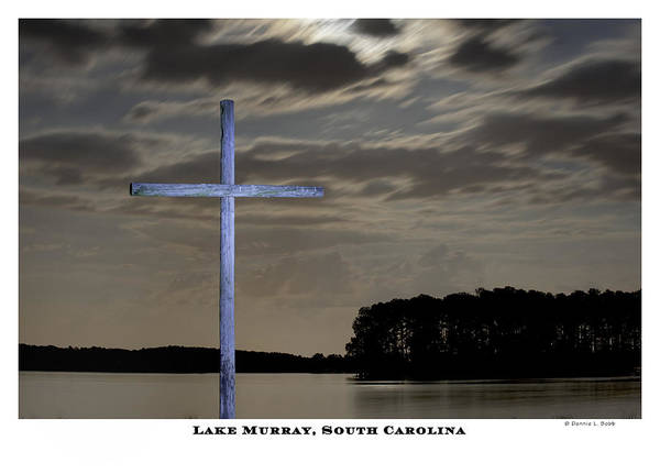 Cross Art Print featuring the photograph Blue Cross by Donnie Bobb