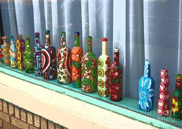 Bottles Art Print featuring the photograph Bottled Up by Debbi Granruth