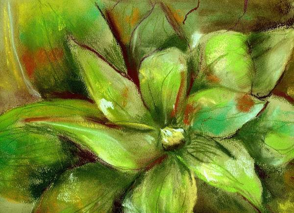 Green Art Print featuring the painting Bright Agave by Marilyn Barton