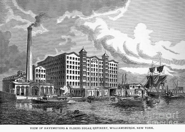 1876 Art Print featuring the photograph Brooklyn: Sugar Refinery by Granger
