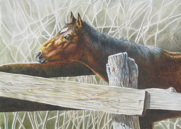Figurative Art Print featuring the painting Brownie by Arnold Hurley