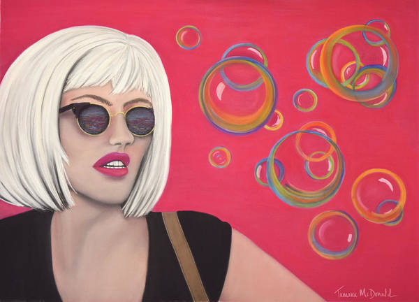 Blond Art Print featuring the pastel Bubbles by Tamara McDonald