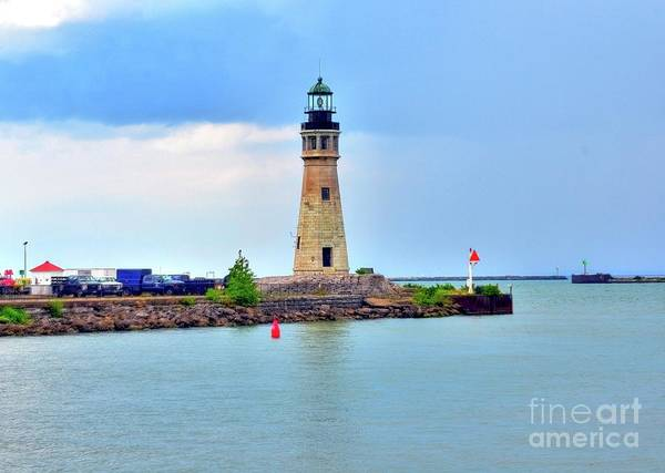 Lighthouse Print featuring the photograph Buffalo Lighthouse by Kathleen Struckle