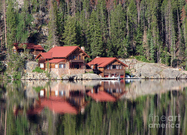 Cabin Art Print featuring the photograph Cabin by Amanda Barcon