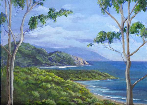 Landscape Art Print featuring the painting Cape Tribulation by Robynne Hardison
