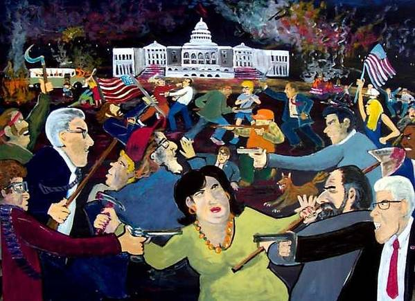 War Art Print featuring the painting Carnival Of Democracy by Richard Hubal