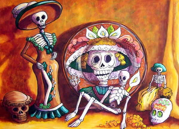 Still Life Art Print featuring the painting Catrina Still Life by Candy Mayer