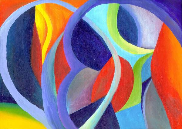 Abstract Art Print featuring the painting Circular Vision by Peter Shor