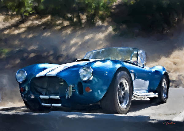 Blue Art Print featuring the photograph Cobra by Patricia Stalter